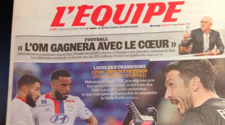 Lione-Juventus, francesi pessimisti: «Servirenne unexploit»