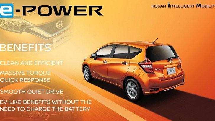 Nissan e-Power, arriva l'ibrido per le auto compatte