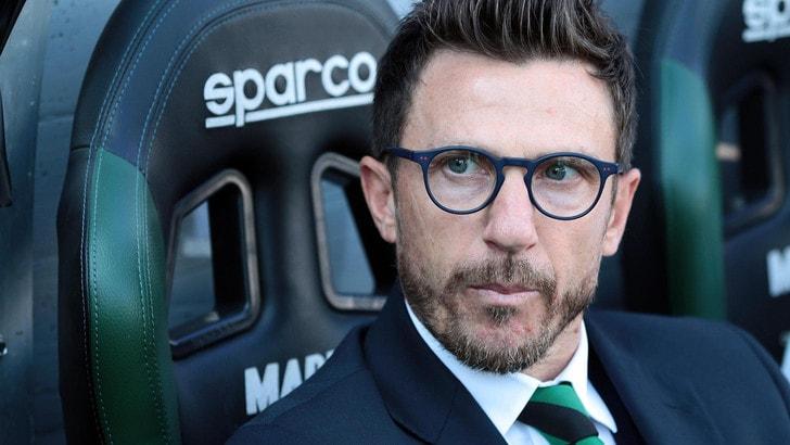 Serie A Sassuolo, Di Francesco avvisa l'Atalanta: «Vogliamo tornare a vincere»