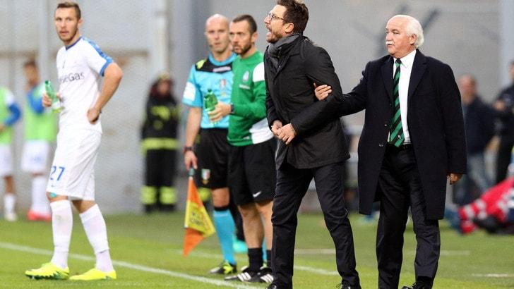 Serie A Sassuolo, Di Francesco: «Curioso di vedere se mi squalificano»