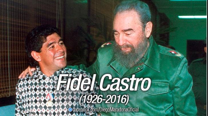 Maradona ricorda Fidel Castro: «Per me è stato come un secondo padre»