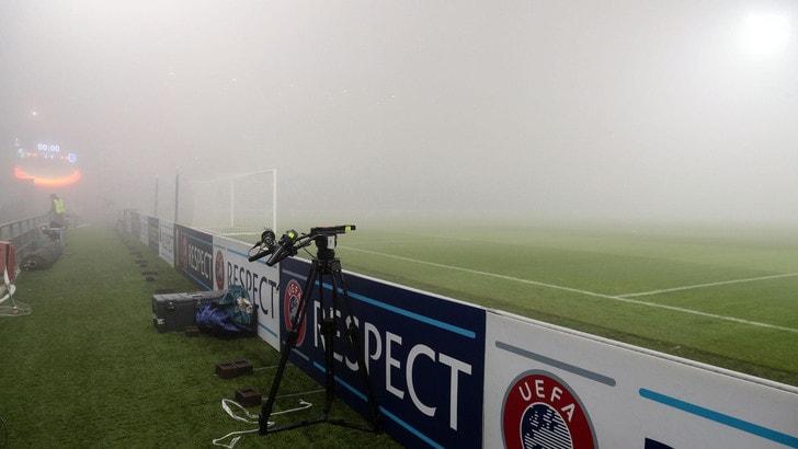 Europa League, troppa nebbia: rinviata Sassuolo-Genk