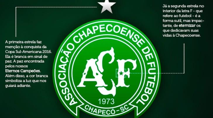 Chapecoense, il club modifica lo stemma per onorare le vittime