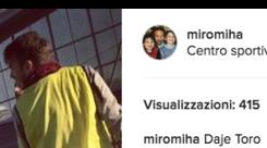 Sinisa raggiunto dai Mihajlovic, carica derby: «Daje Torino»