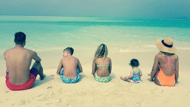 Famiglia Totti alle Maldive: «Il regalo più bello»