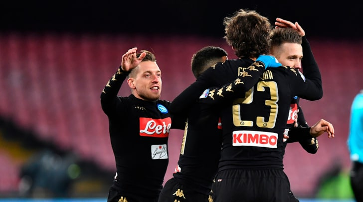Coppa Italia, Napoli-Spezia 3-1. Bene Zielinski e Giaccherini, esordio Pavoletti