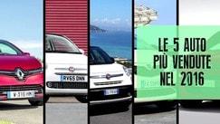 Mercato auto Italia: le 5 più vendute del 2016