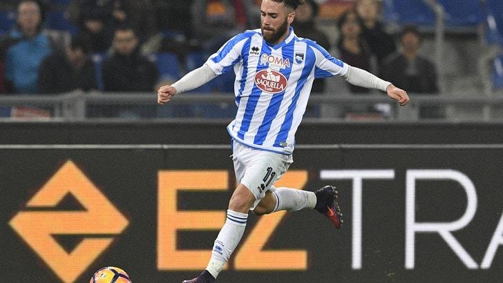Serie A Pescara, distorsione alla caviglia sinistra per Zampano