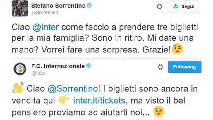 Sorrentino chiede aiuto all'Inter: