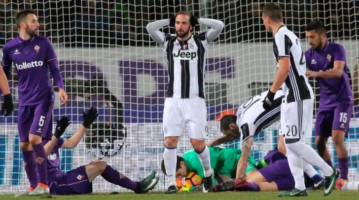 Non basta Higuain, la Juventus cade: Dybala sbaglia, vince la Fiorentina