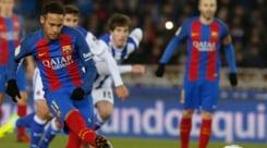 Coppa del Re: Real Sociedad-Barcellona 0-1, la decide Neymar