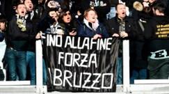 Juventus, lo striscione allo Stadium per le vittime di Rigopiano