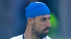 Juve-Lazio, cosa ha in testa Khedira? L'ironia social