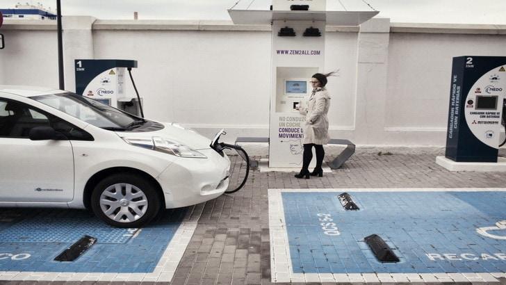 """Auto elettriche, finalmente """"protetti"""" i parcheggi con colonnina"""