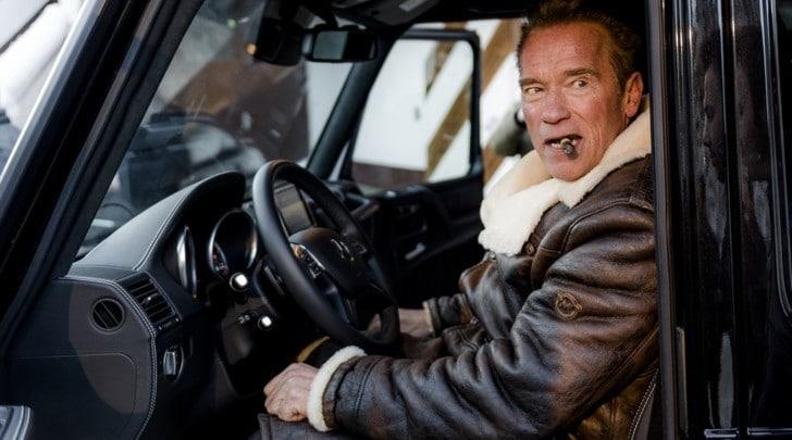 """Una Classe G elettrica per il """"mercenario"""" Schwarzenegger"""