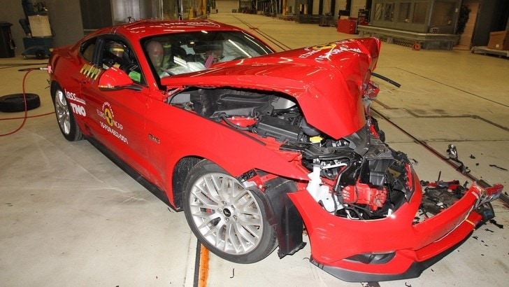 Ford Mustang, solo 2 stelle nel Crash test Euro NCAP