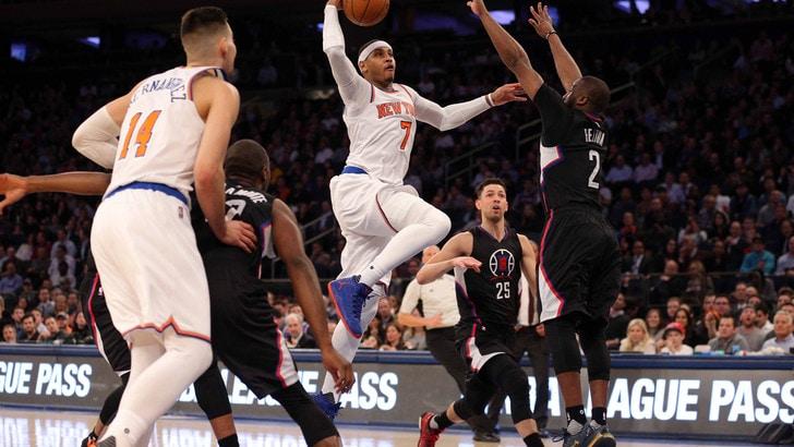 Risultati Nba - Toronto spreca, Detroit ringrazia: Carmelo Anthony trascina i Knicks