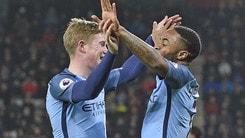 Premier League, Bournemouth-Manchester City 0-2: Guardiola al secondo posto