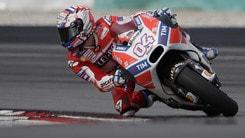 MotoGp Ducati, Dovizioso: «Feeling migliore con la moto»