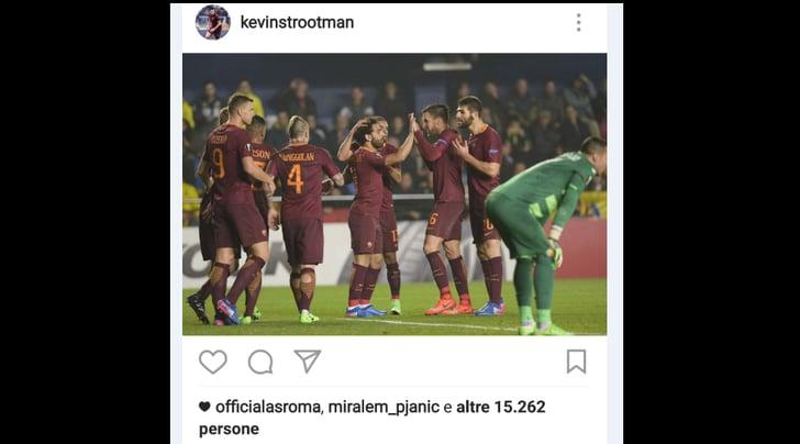 La Roma vince in Spagna, Pjanic festeggia con Strootman