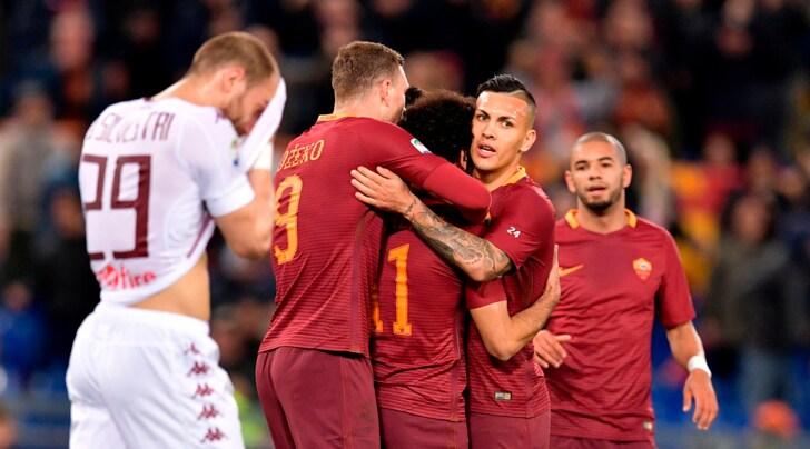 Il Toro si squaglia subito e la Roma vince per 4-1
