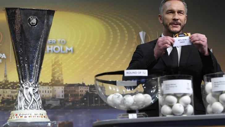 Sorteggi di Europa League, la Roma pesca il Lione agli ottavi