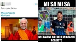 Napoli ko contro l'Atalanta: tutta l'ironia sul web