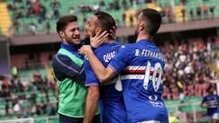 Palermo-Sampdoria 1-1: Quagliarella trova il pareggio al 90'