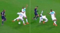 Marsiglia, Evra: scontro comico col compagno e palla all'avversario