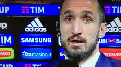 Juventus, Chiellini: «Polemiche arbitrali? Solo chiacchiere da bar»