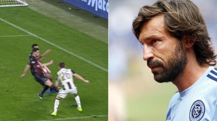 Rigore Juventus-Milan, Pirlo:«Ci stava, la mano c'era»