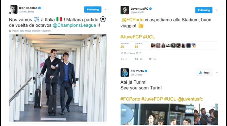 E' già Juventus-Porto: «Ciao Torino! - Benvenuti!»