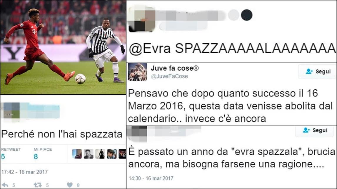 Un anno fa Juventus eliminata col Bayern: Evra e il rimorso social dei tifosi