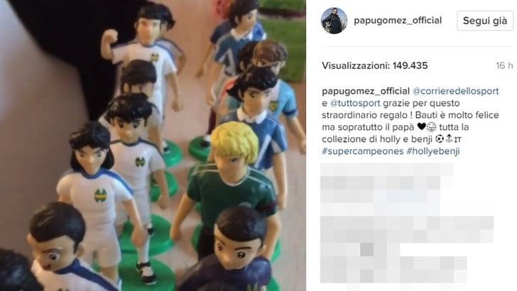 A casa di Papu Gomez, la collezione di statuine di Holly e Benji