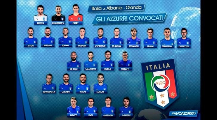 Italia, ecco i convocati da Ventura: quattro sono della Juventus