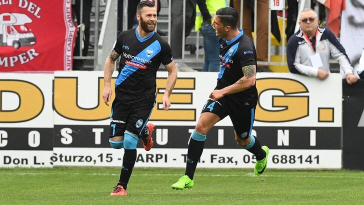 Serie B, Spal prima anche in lavagna