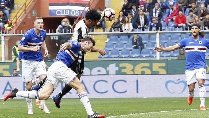Juventus spietata, basta un tempo e un gol di Cuadrado con la Samp