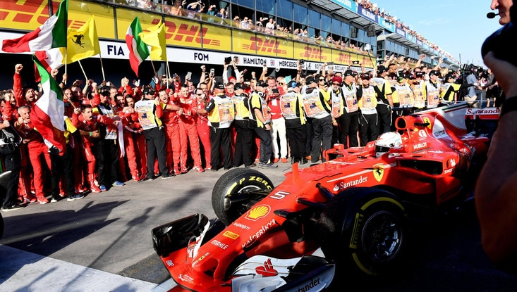 Gp Australia, Vettel e Ferrari trionfano! Raikkonen quarto