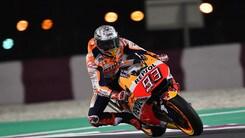 MotoGp Qatar: Marquez ok nel warm up, Rossi in crisi