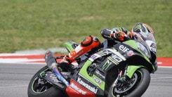 Sbk, test Aragon: Kawasaki in vetta, Sykes precede Rea