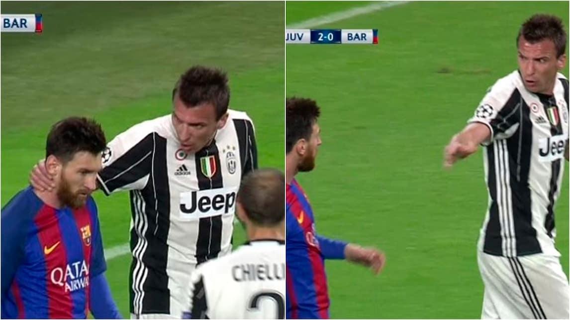 Juventus-Barcellona, scintille in campo tra Mandzukic e Messi!