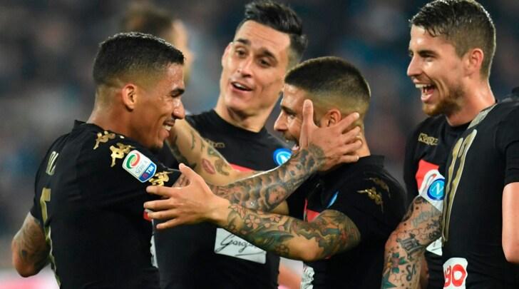 Serie A: tris Napoli, l'Atalanta frena la Roma. Pari Lazio e Fiorentina ko con l'Empoli