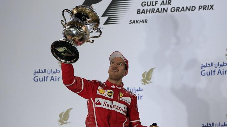 F1, Vettel vola in Bahrain: mondiale a 2,20