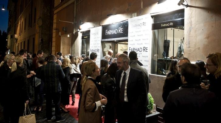 Farhad Re inaugura a Roma la prima boutique