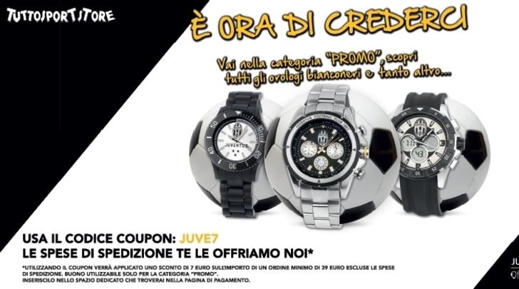 È ora di crederci! Approfitta della promo di Tuttosport Store sugli orologi della Juventus!