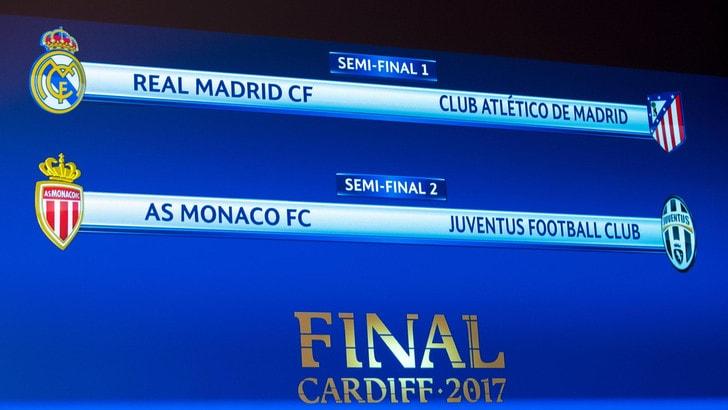 Monaco-Juventus, le date e gli orari della semifinale di Champions League