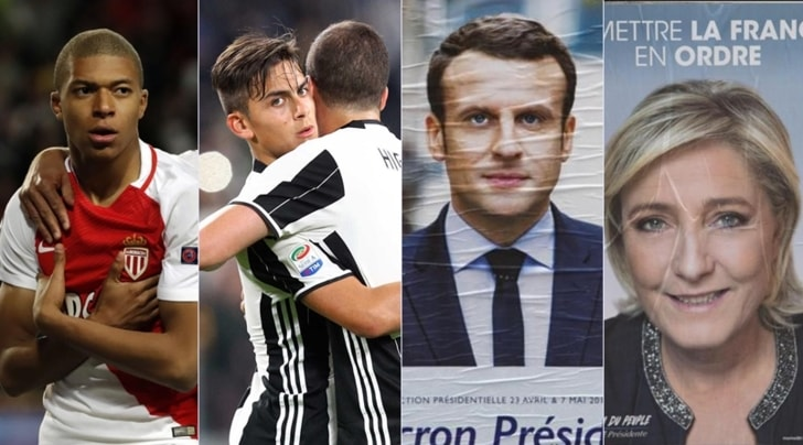 Monaco-Juventus o Macron-Le Pen? La tv divide la Francia