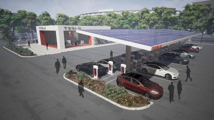 Tesla, la rete di ricarica raddoppierà in pochi mesi