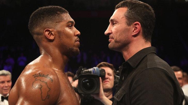 Pugilato, per la corona mondiale dei pesi massimi Joshua vs Klitschko