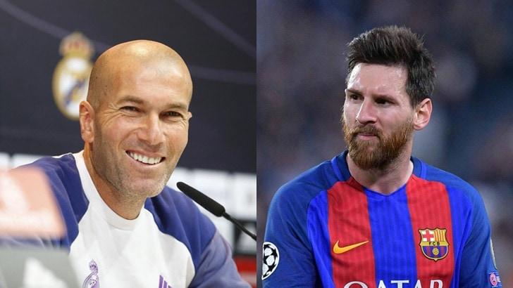 Messi ammette: «Ho chiesto la maglia solo a Zidane»